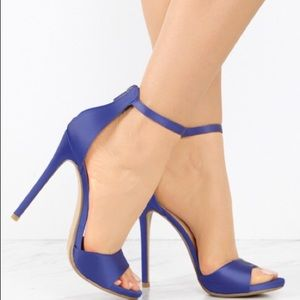Blue Satin Stiletto